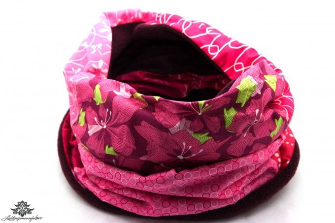 Winterschal Damen rosa pink / extralanger Fleece-Loopschal aus der Lieblingsmanufaktur ... Graue Wintertage - nicht mit uns!