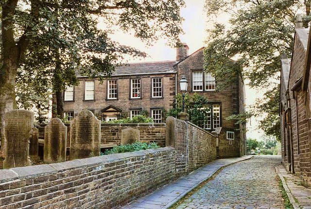 Parsonage which was home to the Bronte Sisters