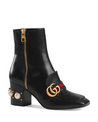 Gucci Peyton Block Heel Booties | Bloomingdale's