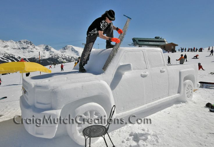 GMC Snow Sculpture Event on Whistler BC Canada created by www.CraigMutchCreations.Com