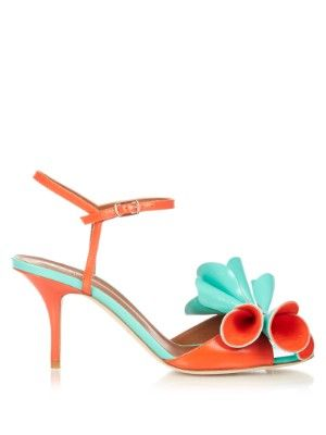 Thelma bi-colour leather sandals   Malone Souliers Lift new-season looks with Malone Souliers's aqua-green and clementine leather Thelma sandals. Available now at MATCHESFASHION.COM UK