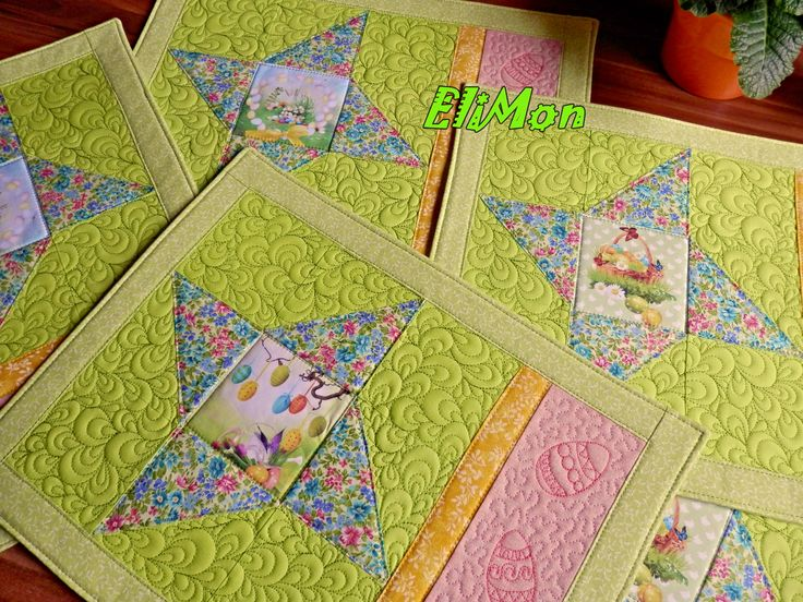 Easter  Placemats. patchwork quilt