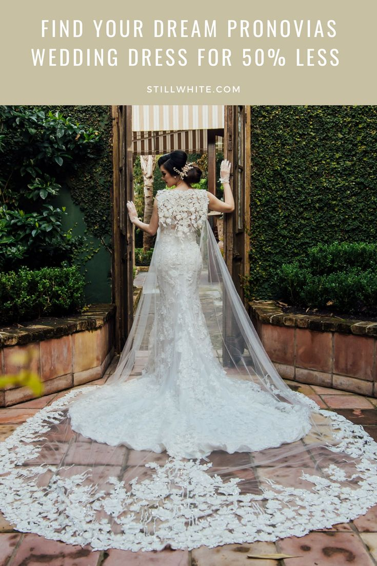 Stillwhite Com Pronovias Is A Wedding Gown Designer Based In Barcelona Spain It Has Its Own Collection O Lace Wedding Dress Open Wedding Dress Styles Dresses