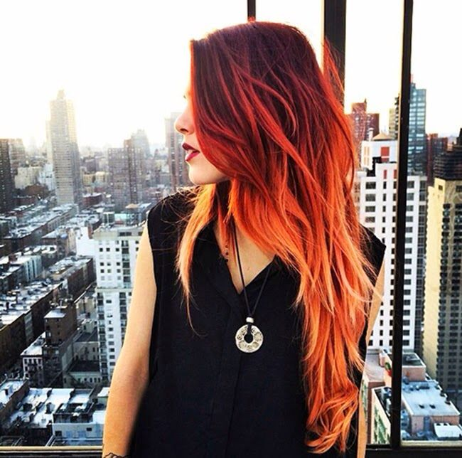 ombre ruiva h a i r pinterest hair coloring hair. Black Bedroom Furniture Sets. Home Design Ideas