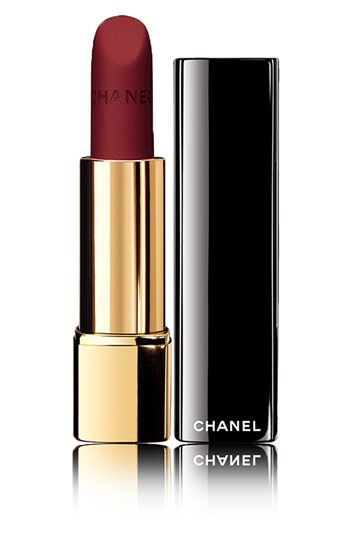 chanel rouge allure velvet luminous matte lipstick in la fascinante. a perfect red to get the look just right.