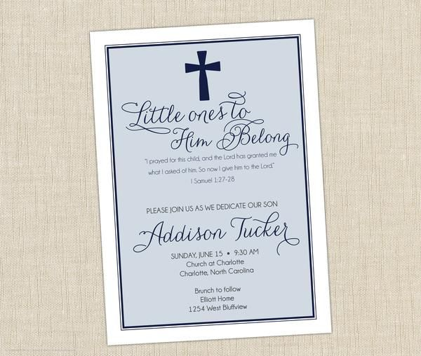 Dedication Invitation Baby Dedication And Babies