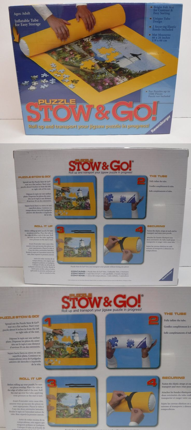 Storage Mats and Glue 180021: Ravensburger Puzzle Storage System Stow And Go Yellow Mat 46 X 26 New -> BUY IT NOW ONLY: $49 on eBay!