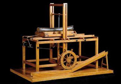 Leonardo's sawmill.  Model at Museo Nazionale della Scienza e della Tecnologia.