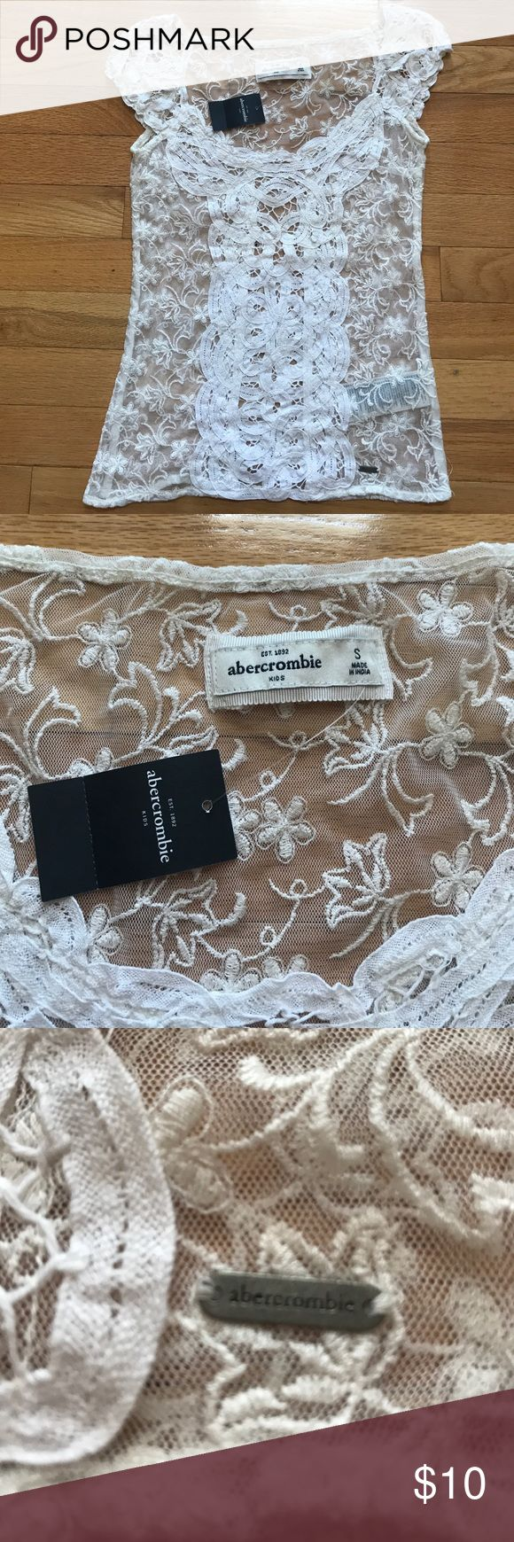 NWT abercrombie girls Lace top Size Small Cream NWT abercrombie girls Lace top Size Small Cream. Smoke free pet free. abercrombie kids Shirts & Tops Tees - Short Sleeve