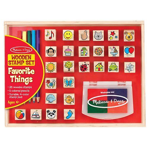 "Melissa & Doug Wooden Favorite Things Stamp Set - Melissa & Doug - Toys ""R"" Us"