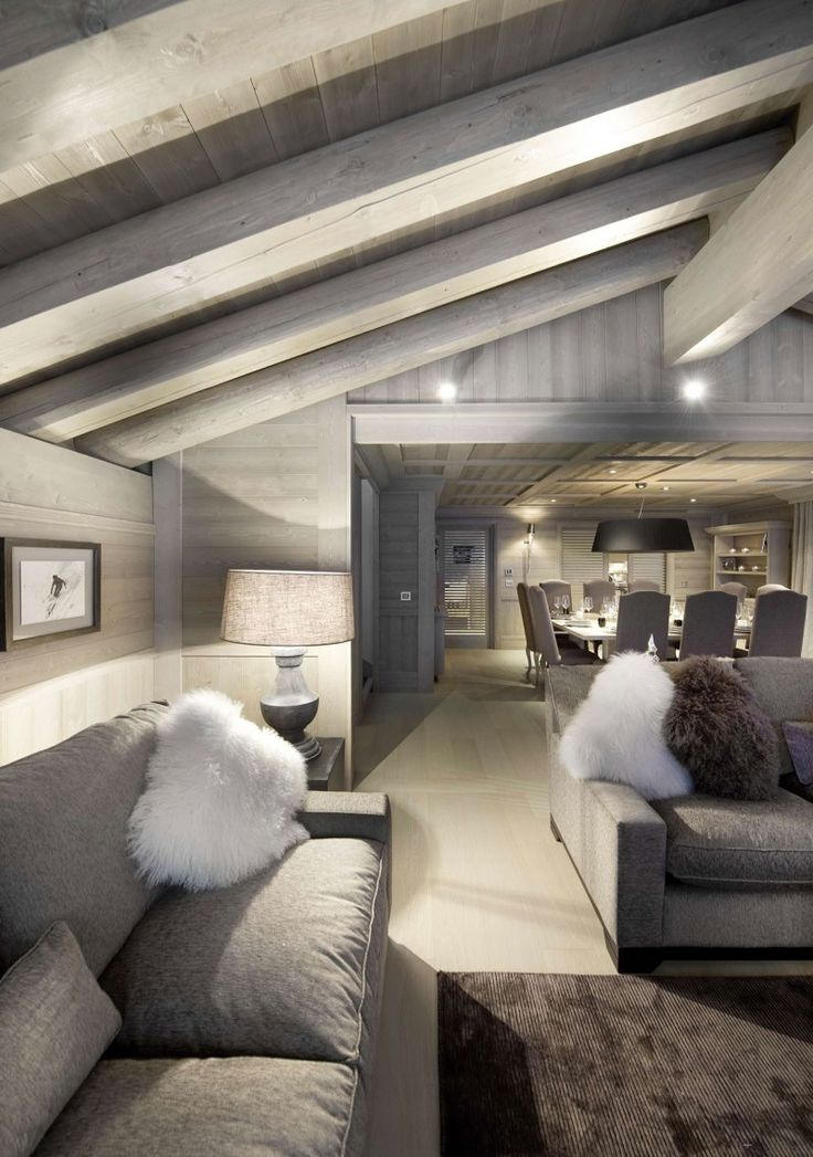 Gorgeous Grey Ski Chalet   Chalet White Pearl By Philippe Capezzone. Love  The Large Square Dining Table. Love All The Grey