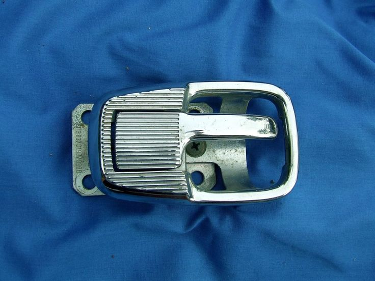 Vintage Vw Karmann Ghia Chrome Door Inner Handle Cover