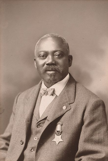 William Harvey Carney - Wikipedia FIRST AFRICAN AMERICAN TO RECEIVE THE MEDAL OF HONOR FOR RESCUING THE REGIMENTAL COLORS OF THE 54TH DURING THE BATTLE TO TAKE FT. WAGNER!!!