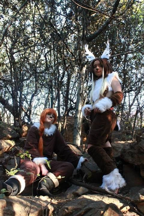 My Sven cosplay from the movie Frozen  I wore this to a picnic in May 2014.   I had a lot of fun and tears making this cosplay and I absolutely loved wearing it. Unfortunately my hooves aren't pictured here >___<