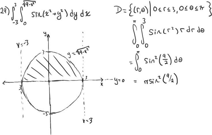 Double integrals involving trigonometry, Woop maths!