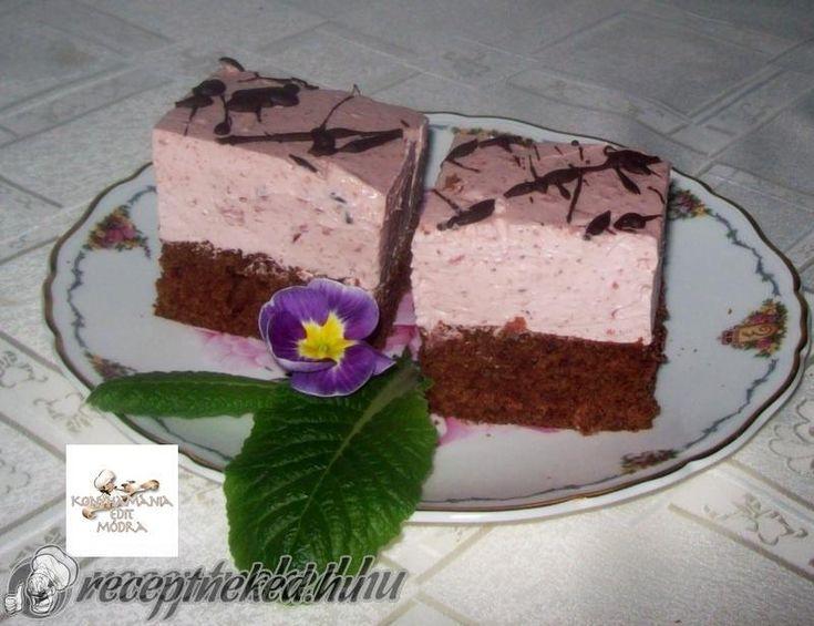 Csokoládés, meggyes, joghurtos kocka recept