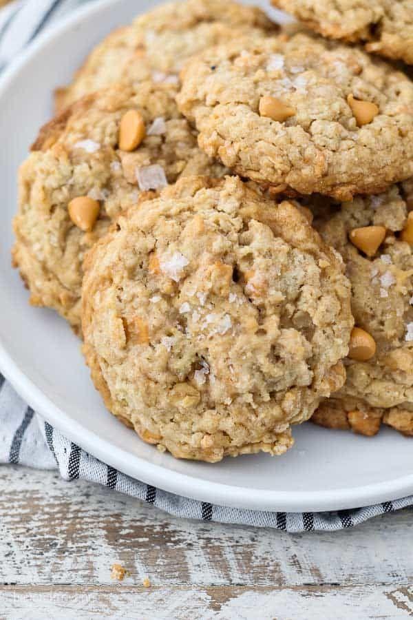 Salted Caramel Butterscotch Oatmeal Cookie