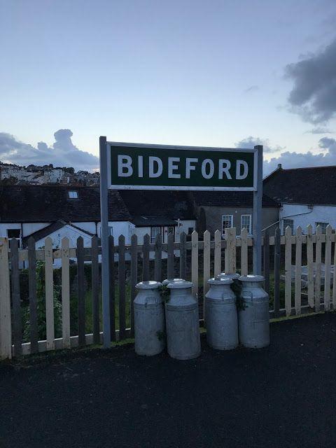 Cycling the Tarka Trail, milk churns at the former Bideford station #disused #railway