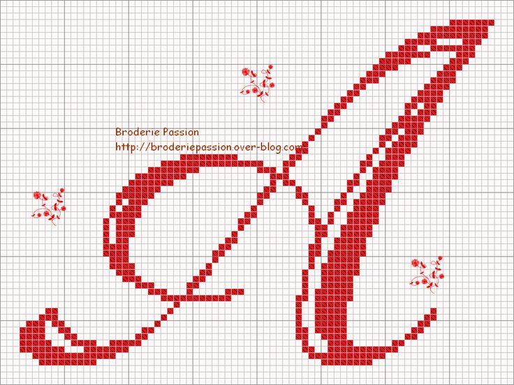 Classy Cross-Stitch alphabet-free charts