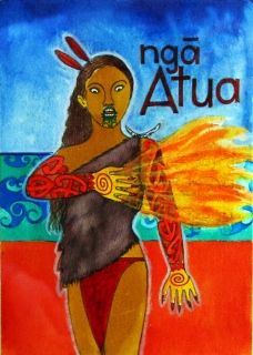 Robyn Kahukiwa's Ngā Atua exhibition.