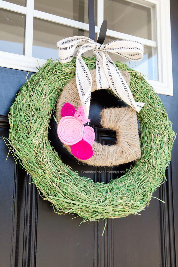 Easy Spring Wreaths Diy Spring Wreath Wreaths Diy Monogram
