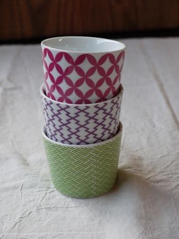 Hasami-Yaki small cup 波佐見焼 和紋そばちょこ