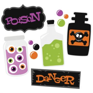 Poison SVG cutting file set halloween svg cuts halloween scal files for cricut free svg cuts