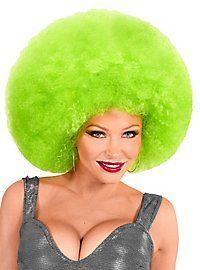 Afro XXL Perücke grün ★ Clown Perücke online kaufen ★ maskworld.com