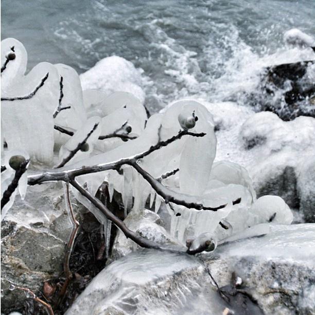 Ice in Trasimeno lake