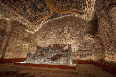 Hrobka Ramesse VI. je asi nejlépe zachovanou hrobkou z celého Údolí králů.
