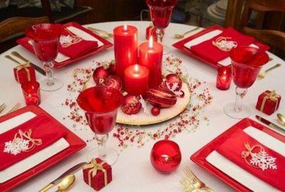Pinterest : 6 belles tables de Noël en rouge et or