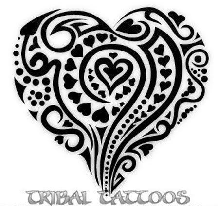 tribal heart tattoo 6