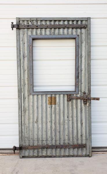 Half Lite Single Corrugated Metal Door Metal Garage Doors Corrugated Metal Siding Metal Door