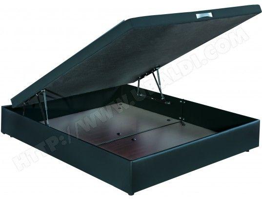 Sommier 140 x 190 BULTEX Coffre Quartz 140x190 + TDL Phénix noir