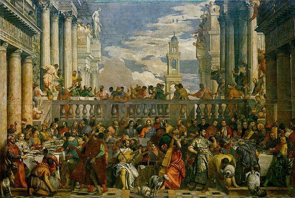 Paolo Veronese - De bruiloft te Kana. 1563. Parijs, Musée du Louvre (N.K. p. 17)