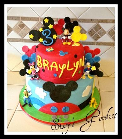 Mickey Mouse Clubhouse Cake! — Disney Themed Cakes