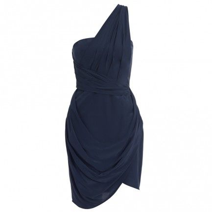 Silk One Shoulder Dress - Sale