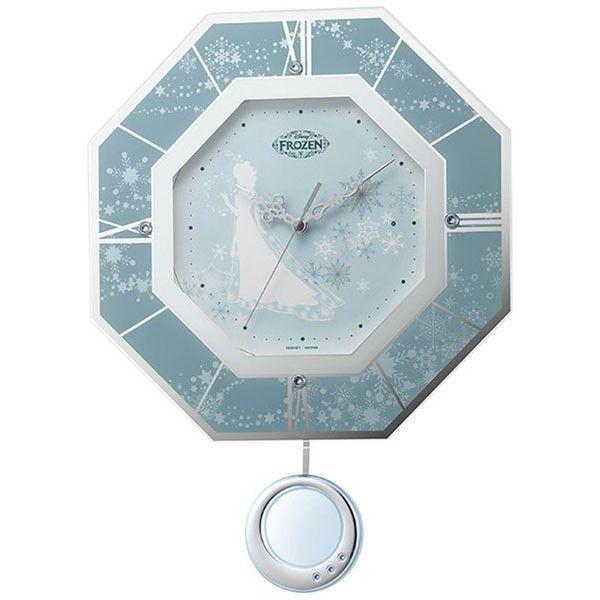 ディズニー 掛け時計の通販|Wowma! リズム時計工業 Disney ディズニー 電波壁掛け時計 アナと雪の女王 エルサ 8MX405MC04 振り子