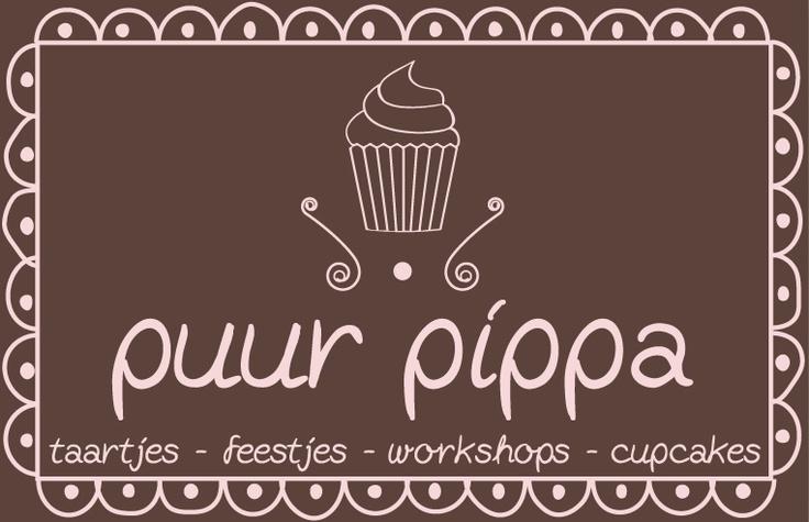 Het visitekaartje van www.puurpippa.nl, een zoet zaakje in Wassenaar waar alles draait om taarten en cupcakes. The Image Brewery ontwikkelde samen met Puur Pippa de zoete doch stijlvolle huisstijl.