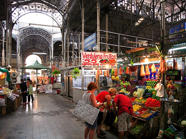 Picture of a vegetable stand at San Telmo Market, Buenos Aires, Argentina