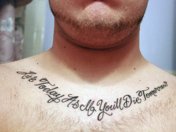 Life Quotes Tattoos For Guys 31 precious tattoo quotes for men