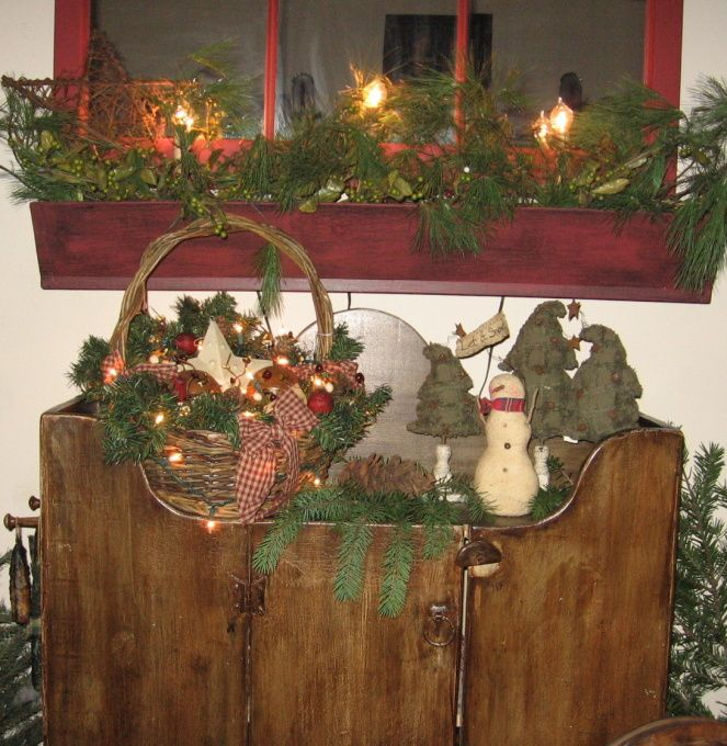 Primitive Christmas Decorating: 655 Best A Primitive/ Country Christmas Images On Pinterest