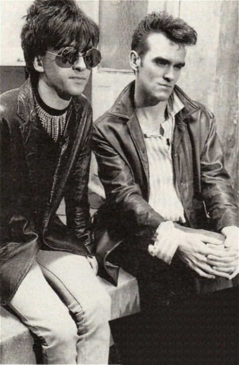 Johnny Marr and Morrissey