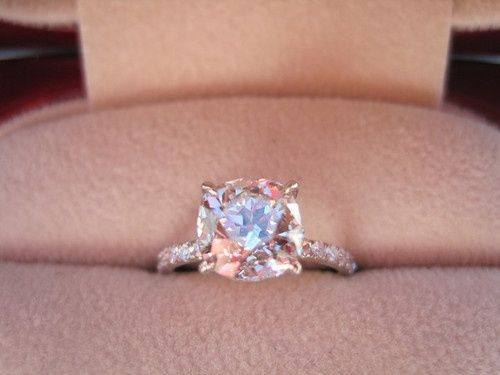 Blush Pink wedding ring.