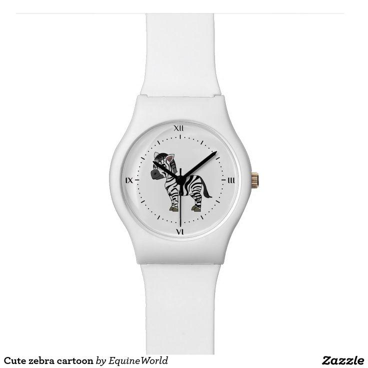 Cute zebra cartoon wrist watch