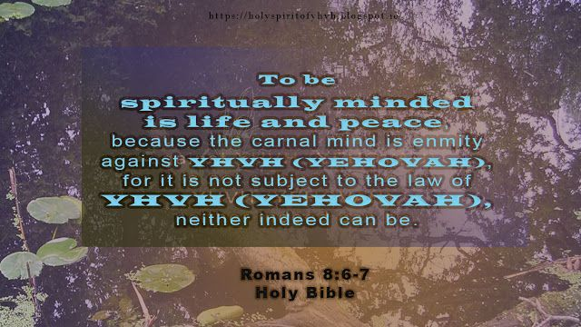Holy Spirit: Living guided by the Holy Spirit!