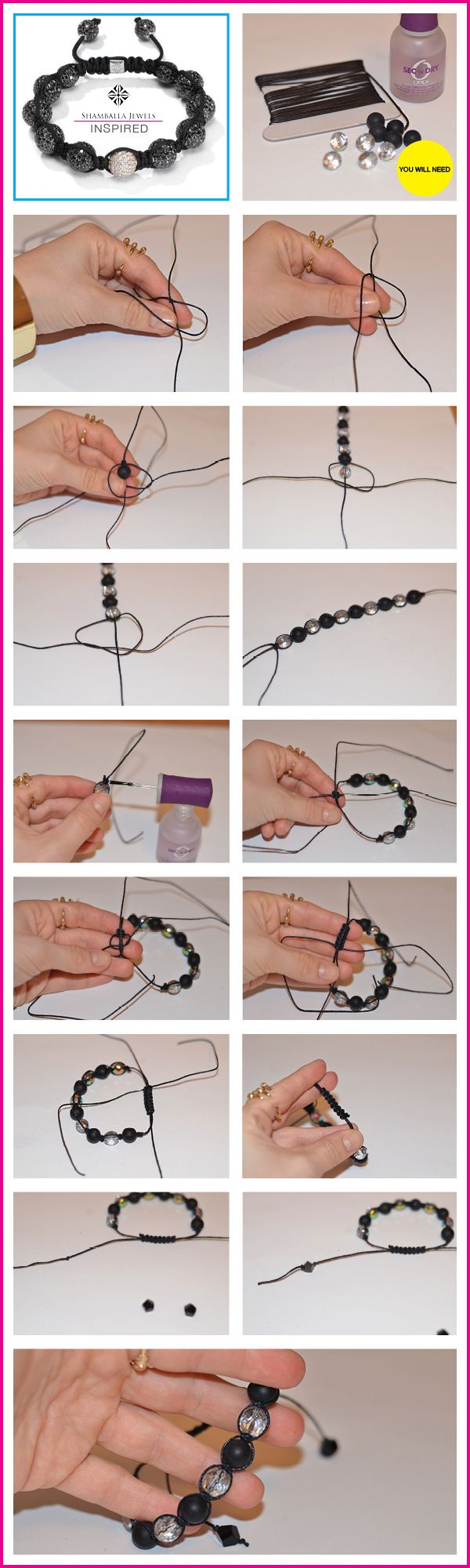 Guest Post: DIY Shamballa Bracelet from Katrine of Make It and Fake It | Chic Steals