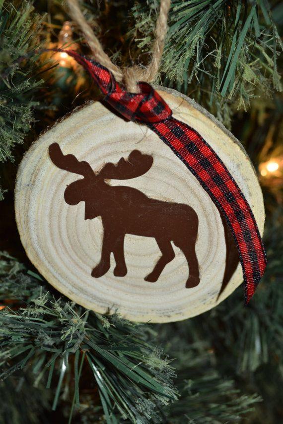 Rustic Moose Ornament by PecanPieCrafts on Etsy