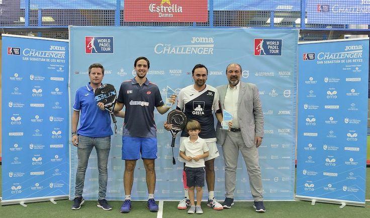 Díaz-Capra campeones en el Joma Madrid Challenger 2017.
