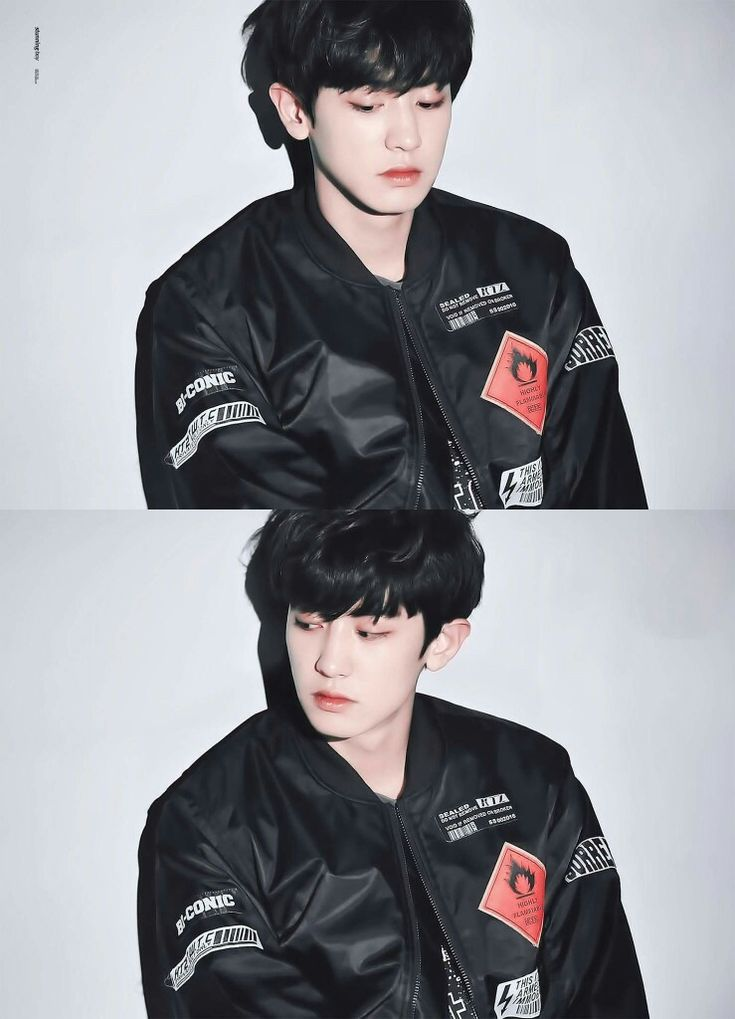 Chanyeol with black hair